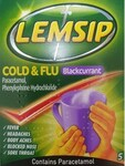 Lemsip Cold and Flu Original Blackcurrant 5 Sachets