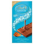 Lindt Lindor Salted Caramel Milk Chocolate Bar 100g