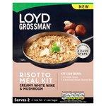 Loyd Grossman Creamy White Wine And Mushroom Risotto Meal Kit 300g