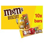 M&M Chocolate Biscuit Bar 10 x 19.8g