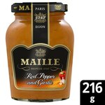 Maille Red Pepper French Mustard and Garlic 216g