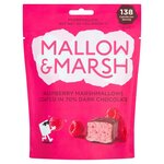 Mallow and Marsh Raspberry Marshmallows coated in 70% Dark Chocolate 100g