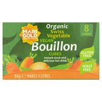 Marigold Organic Swiss Vegetable Vegan Yeast Free Bouillon Cube Green 84g