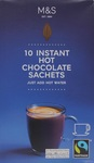 Marks and Spencer 10 Fairtrade Instant Hot Chocolate Sachets 350g