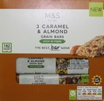 Marks and Spencer 3 Caramel and Almond Cereal Bars