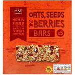 Marks and Spencer 5 Oats Seeds and Berries Cereal Bars