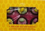 Marks and Spencer 6 Speckled Egg Nest Biscuits 85g