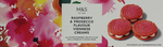 Marks and Spencer All Butter Raspberry and Prosecco Flavour Viennese Creams 125g