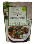 Marks and Spencer Balanced for You Fragrant Chicken and Lamb Kofta Curry Pouch 300g