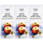 Marks and Spencer British Pressed Apple Juice 3 x 250ml