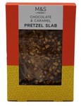 Marks and Spencer Chocolate and Caramel Pretzel Slab 85g