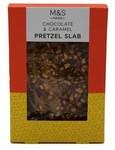 Marks and Spencer Chocolate and Caramel Pretzel Slab 85g