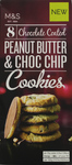 Marks and Spencer Chocolate Coated Peanut Butter and Choc Chip Cookies 200g