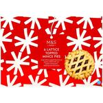 Marks and Spencer Christmas 6 Lattice Topped Mince Pies