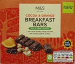 Marks and Spencer Cocoa and Orange Breakfast Bars x 3