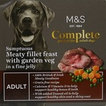 Marks and Spencer Complete Sumptuous Meaty Fillet Feast with Garden Veg in Jelly 150g