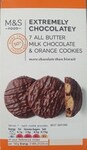 Marks and Spencer Extemely Chocolatey 7 All Butter Milk Chocolate and Orange Cookies 150g