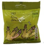 Marks and Spencer Fizzy Dinosaurs 65g
