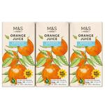 Marks and Spencer Orange Juice 3 x 200ml