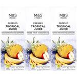 Marks and Spencer Pressed Tropical Juice 3 x 250ml