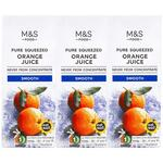 Marks and Spencer Pure Squeezed Smooth Orange Juice 3 x 250ml