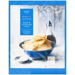 Marks and Spencer Reduced Fat Full On Flavour Sea Salt and Vinegar Crinkle Cut Crisps 6x 25g Pack