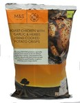 Marks and Spencer Roast Chicken with Garlic and Herbs Hand Cooked Crisps 150g