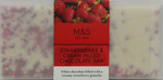 Marks and Spencer Strawberry and Cream filled White Chocolate bar 80g