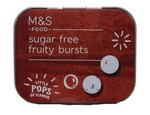 Marks and Spencer Sugar Free Fruity Bursts 18g