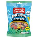 Maynards Bassetts Fizzy Fish Sweets 160g