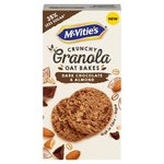 McVities Crunchy Granola Oat Bakes Dark Chocolate and Almond 140g