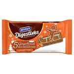 McVities Gingerbread Milk Chocolate Slices 5 Pack