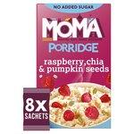 Moma Jumbo Porridge Raspberry Chia and Pumpkin Seeds 8 x 35g
