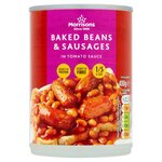 Morrisons Baked Beans and Sausages 400g