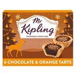 Mr Kipling Chocolate and Orange Tarts 6 Pack