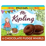 Mr Kipling Chocolate Fudge Whirls 6 Pack