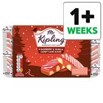 Mr Kipling Raspberry and Vanilla Candy Cane Slices 6 Pack