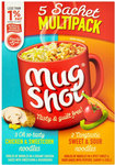 Mug Shot Chicken and Sweetcorn and Sweet and Sour Noodles 5 Pack