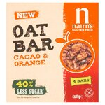 Nairns Gluten Free Cacao and Orange Oat Bars 160g