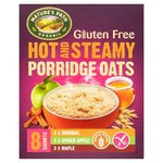 Natures Path Gluten Free Organic Hot and Steamy Porridge Oats Variety 8 Pack
