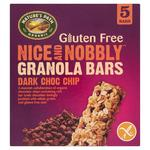 Natures Path Nice and Nobbly Dark Choc Chip Granola Bars 5 Pack
