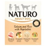Naturo Adult Dog Salmon Rice With Vegetable 400G