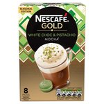 Nescafe Gold White Choc and Pistachio Mocha 8 Sachets Limited Edition