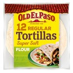Old El Paso 12 Flour Tortillas Family Pack 489g