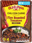 Old El Paso Intense Cooking Sauce Chili Con Carne with Fire Roasted Tomatoes 225g