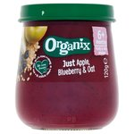 Organix Apple Blueberry and Oat Jar 120g 6 Months