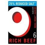 Oxo Rich Beef Reduced Salt Stock Cubes 35g