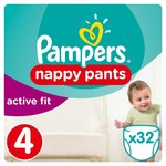 Pampers Active Fit Pants Size 4 Essential Pack 32 per pack