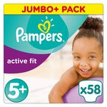 Pampers Active Fit Size 5+ x58