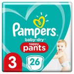 Pampers Baby Dry Nappy Pants Size 3 x 26